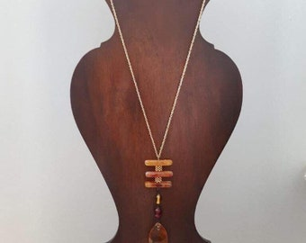 Amber Tiers Pendant