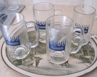 Vintage Hamm's Beer Mugs