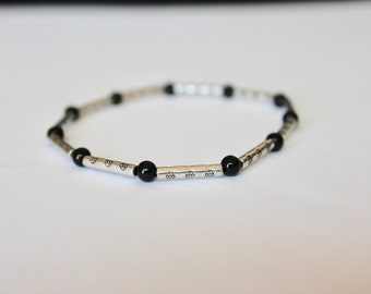 Black Bead Accent Bracelet