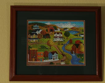"""Framed Puzzle """"Autumn Weekend"""" (500 pieces)"""