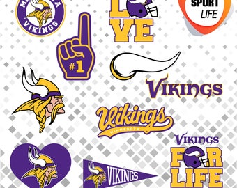 Minnesota Vikings clipart, sport clipart, sport silhouettes, sport logos, svg, dxf, png, jpg and eps files 12