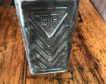 Tin vintage steel bp oil