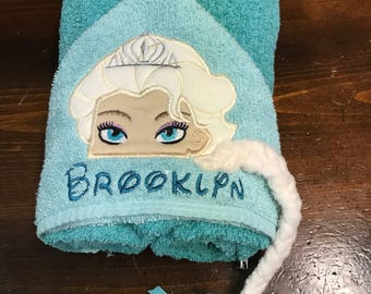 Frozen Sister's hooded towels