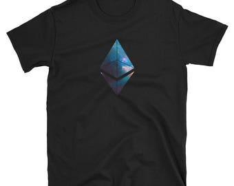 Space ETH - Ethereum Cryptocurrency Logo T-Shirt