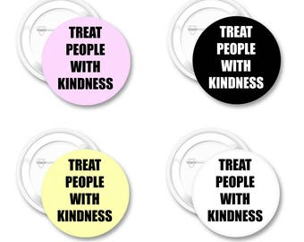 """Treat People With Kindness - 2.25"""" Pinback Button - Harry Styles, Pin Back Buttons"""