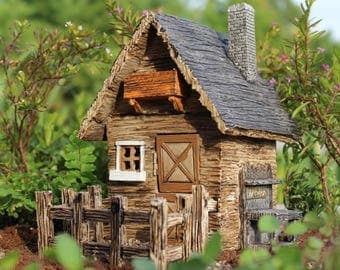Fairy Garden Shed with detached fence