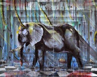 Blue Elephant (16x20)