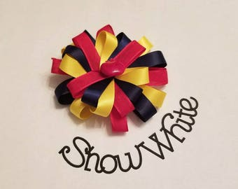 Snow White Inspired Hair Bow