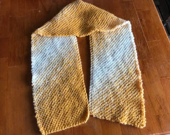 Gold and Cream Diagonal Scarf