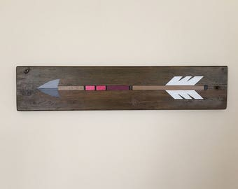 Hand-painted Reclaimed Wood Arrow Sign
