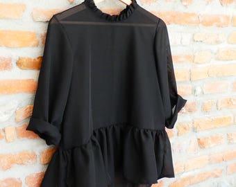 Top/Blouse women chiffon/clothes / Creation
