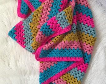 Crochet baby blanket, baby blanket, girl baby gift, nursery decor, baby shower gift