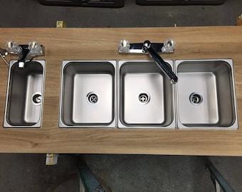 Antique Style Farm Sink Blue Amp White Hand Painted Apron