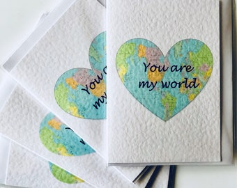 You are my world Valentines card