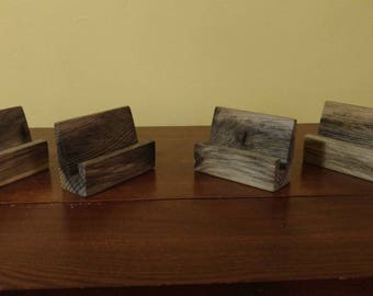 Set of four. Business card holders.