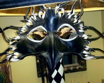VINTAGE HANDMADE LEATHER Mask
