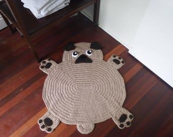 Pug Floor Rug