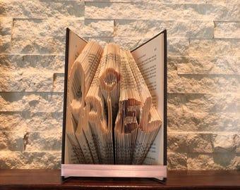 Disney letter folded book art 5 letters