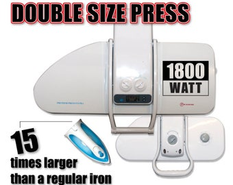 XL Ironing Press for Dry or Steam Pressing, 1800 Watts! 38 Powerful Jets of Steam, 100lbs of Pressure, Includes Extra Cover Foam 32.5 Inches