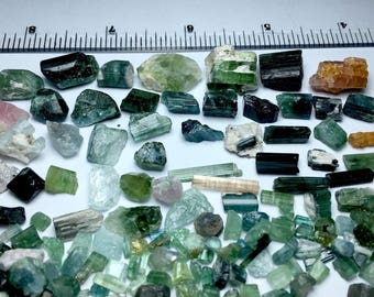 470 Carates Beautiful Rough Grade Tourmaline Mix Lot From Afghanistan.