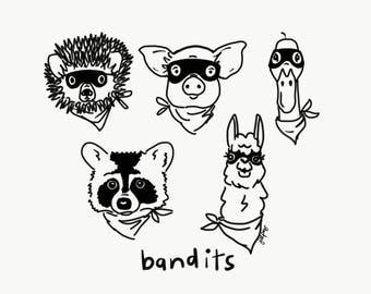 Bandits Print