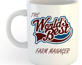 The Worlds Best Farm Manager Mug