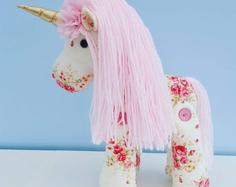 Plush Unicorn - Vintage