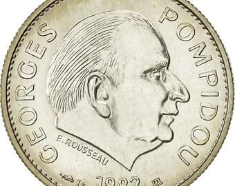 france medal pompidou président de la république française 1982