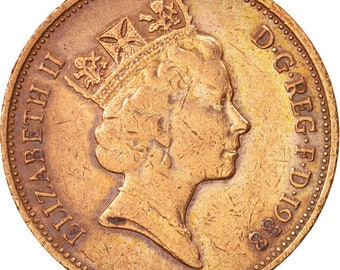 great britain elizabeth ii 2 pence 1988 ef(40-45) bronze km936