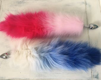 Fluffy Ombre Vegan Kitten Tail Plug
