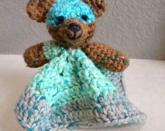 Crochet bear - multi-colored bear - crochet stuffed animal - crochet lovey - teddy bear - crochet toy - baby toy - amigurumi bear - handmade