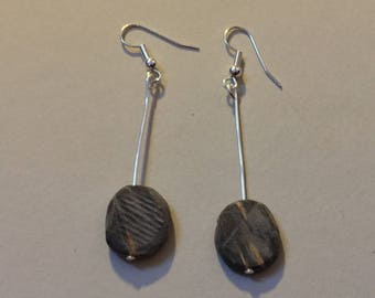 Hand carved wooden earrings :)