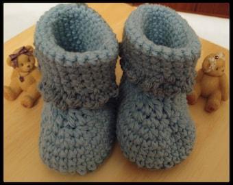 Handmade baby booties (boy or girl)