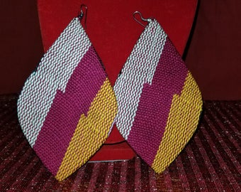 Kente Design Earring