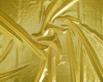 Metallic jersey High Gloss 60909-g in gold