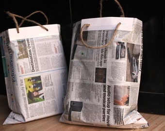 Set of 20 Pcs- Handmade Newspaper Bags .Free Shipping anywhere in the World