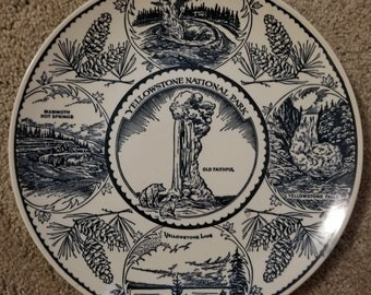 Vintage Yellowstone National Park Souvenir Plate