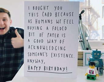 Birthday Card - I bought you this card