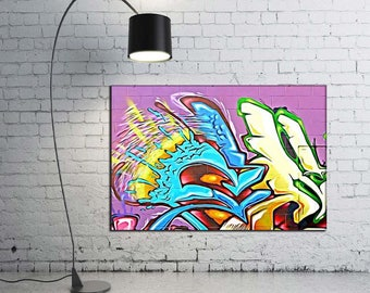 GM 4 - Streets To Canvas - Custom Graffiti Name Sign, Graffiti Art Canvas Print, Personalized Canvas Wall Art, Abstract Graffiti Canvas