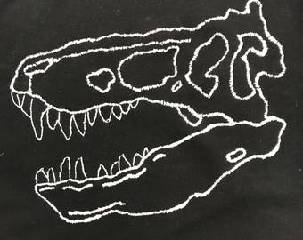 Fossil Dinosaur embroidery