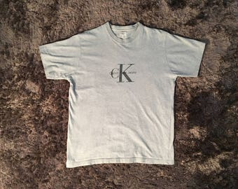 CK Calvin Klein jeans t shirt Vintage women - Sz L