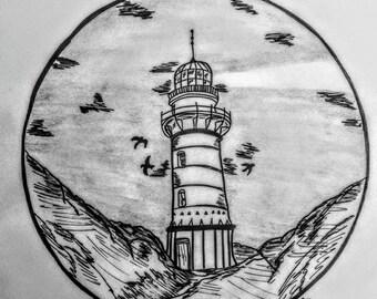 Solitary Lighthouse (Tattoo Art)