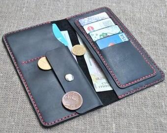 Leather wallet black colour