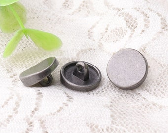 unsmooth metal buttons 10pcs 12*6mm light black buttons round shank zinc alloy buttons sewing clothes