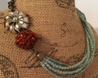 Old & New- Vintage Assemblage Necklace