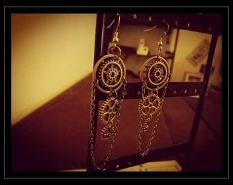 Steampunk 01 earrings / Steampunk Earrings