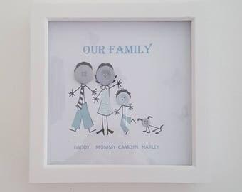 Button Family Box Frame