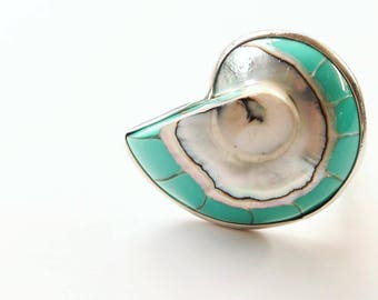 Nautilus Shell Ring