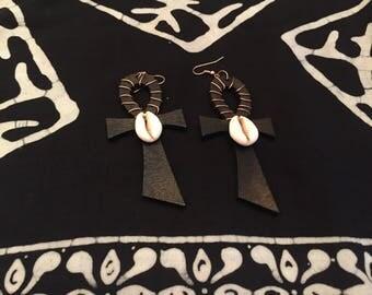 Handmade ankh earrings