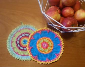 Pot cloth, crochet